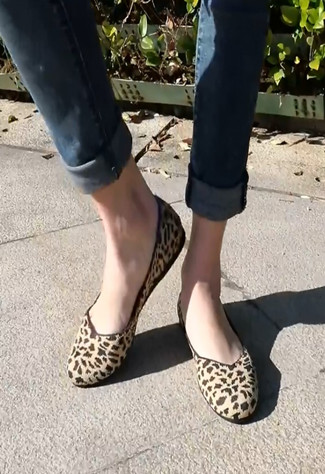 XerkngRothys brand 2018 new brand women's shoes, round head Leopard Print