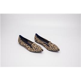 【xerkngrothys】翻盖豹纹鞋女一脚蹬休闲风女平底鞋飞织单鞋