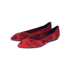 【xerkngrothys】品牌飞线编织红色尖头女鞋欧美潮流百搭休闲低帮鞋
