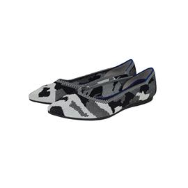 【xerkng】北美迷彩品牌女单鞋飞织尖头浅口平底鞋女