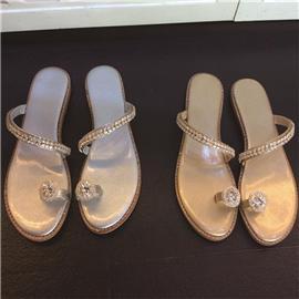 水钻凉鞋鞋系列  休闲凉鞋  2018新款百搭休闲凉鞋