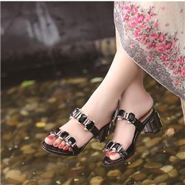 水钻凉鞋鞋系列  新款水钻凉鞋  时尚休闲凉鞋
