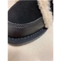 牛绒+羊皮毛一体机车靴图片