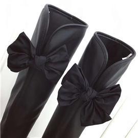 坡跟内增高过膝长筒靴,时尚百搭长筒靴