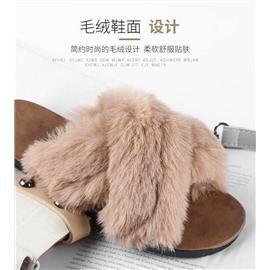 毛毛拖鞋图片