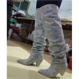 2018年最时尚潮流的钻石晚宴舞台走秀靴子