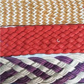机编带系列 PP草席编织  皮革编织  天然草席针织带、十字编织