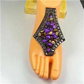 厂家直销鞋辅料 爆款罗马凉鞋鞋饰 手工串珠陶瓷琉璃鞋扣定制批发