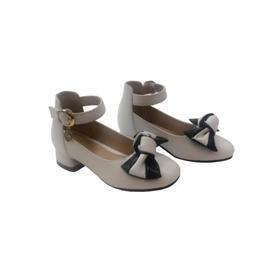 2019新款上市时尚女童小高跟公主皮鞋儿童单鞋