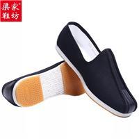 手工纳千层底布鞋图片