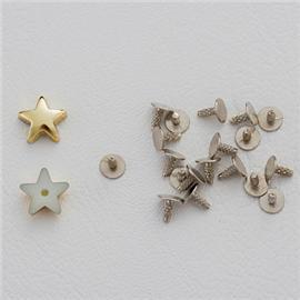 厂家直销 平面五角星装饰铆钉 塑胶面铁底钉服饰箱包皮具配件 10mm