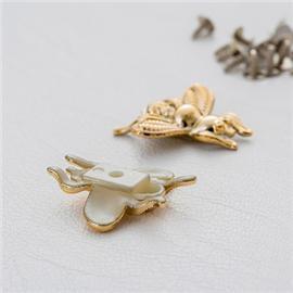 广州意昂饰品有限公司  蜜蜂塑胶面+铁钉  多样规格
