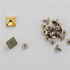 厂家直销金字塔钉 形塑胶面铁底钉 服装箱包皮具配件 8mm
