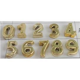广州意昂饰品 厂家批发新款26字母、数字  塑胶面+铁钉