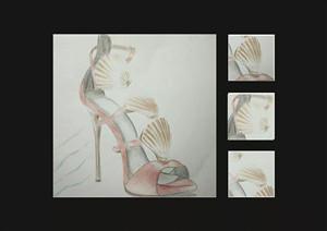 【优秀女鞋设计稿】优秀设计手稿 | 海贝壳