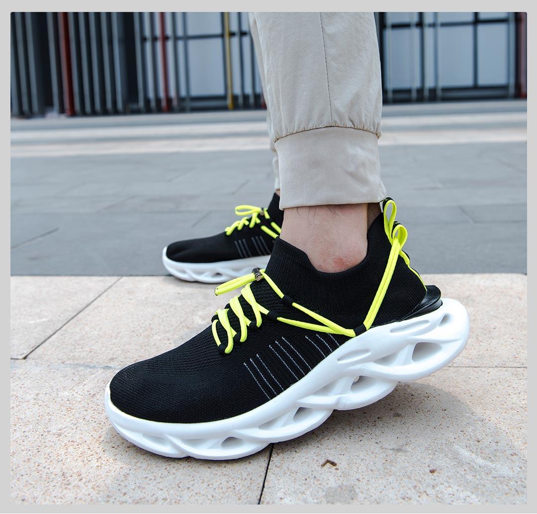 HYBER|弧减震飞织慢跑鞋