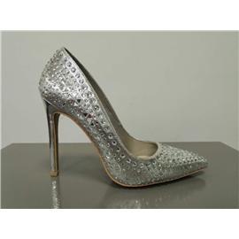 时尚高跟钻石单鞋图片
