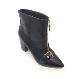 时尚女靴 特色拉链设计 黑色魅力女鞋
