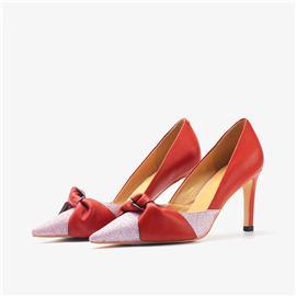 格丽特牛皮单鞋| 女王鞋业