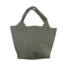 时尚飞织可回收流行菱形条纹手提包|雄德新材料