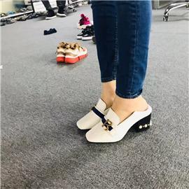 女士跟鞋 日常上班百搭女跟鞋丨湘鼎鞋業
