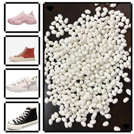 ???我司自主研发的两款新材料:??RFU、TEC??  不断进入市场,受到了客户极高的评价,它是用注塑工艺来分食冷粘鞋市场份额,同时直接替代