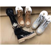 真皮民族風刺繡女鞋圖片
