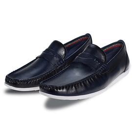 全新头层牛皮猪皮材质橡胶大底绅士男鞋HX180719-1