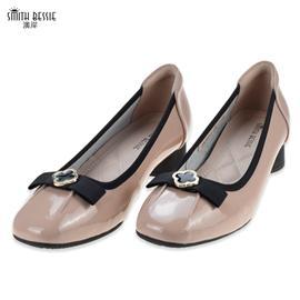 SE 20C087-1柔软牛漆皮猪皮TPR平底密鞋