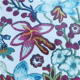 花朵纹印刷贴膜PU人造革|双祥皮革RNF-18131|定制批发厂家