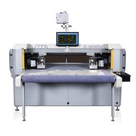 IC2010DH 双刀头智能振动刀皮革切割机(通道式)|电脑皮革切割机|电脑数控机