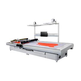 IC455DH/IC650DH double head and double zone CNC vibratory knife leather cutting machine