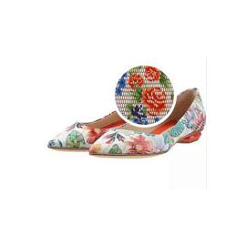 Lace fabric - fashion footwear