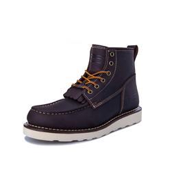 patnfinder冬季潮流保暖工装靴马丁靴羊毛军靴PF真皮短筒雪地靴