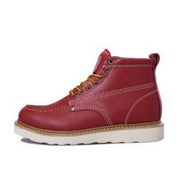 patnfinder马丁鞋夏季男士靴子透气大黄靴真皮户外工装鞋透气马丁鞋男鞋潮流鞋