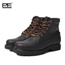 patnfinder冬季短筒潮流工装靴军靴男靴真皮户外大黄靴机车靴