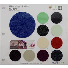 QM-3040|Glitter mirror Microfiber|舒耐美新材料