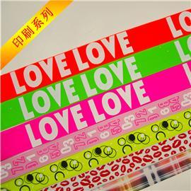 Printing ribbon, elastic band, lace band