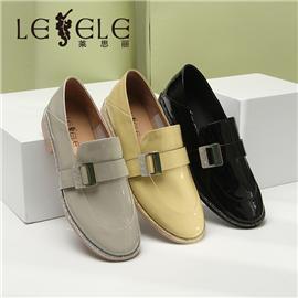 LESELE Flat sole retro single shoes women's happiness shoes LA9940
