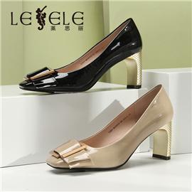 LESELE Heel, shallow mouth, square head, thick high-heeled shoes (ma9043)