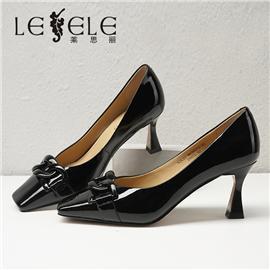LESELE|莱思丽2021秋季新款时尚百搭牛皮橡胶底时装鞋MA90072