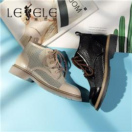 LESELE|Leather hollowed-out net boots fashion cool boots | ma9259