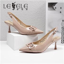 LESELE 莱思丽2021夏季新款复古英伦尖头女式凉鞋 LE7777