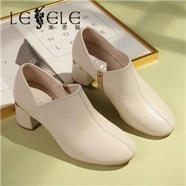 LESELE|莱思丽春季新款韩版漆皮高跟鞋深口单鞋粗跟女鞋时尚工作鞋|LA6941