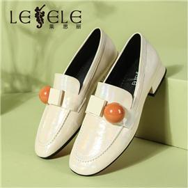 LESELE Versatile flat sole retro single shoes women's happiness shoes LA9940