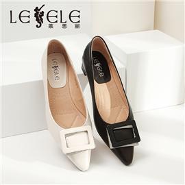 LESELE|Low heeled shoes, sheepskin fairy style and pointy four season shoes|LA6279