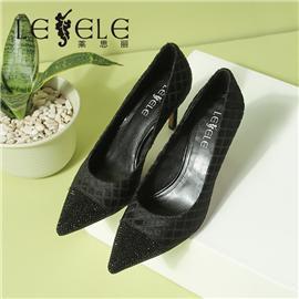 LESELE|莱思丽网红春秋新款韩版尖头浅口细跟高跟鞋皮面性感单鞋女|LA7084
