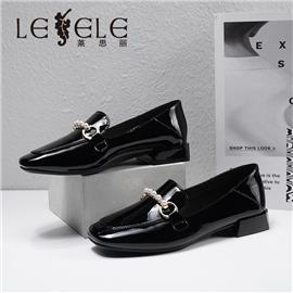 LESELE|莱思丽2021秋季新款复古英伦羊皮橡胶底时装鞋LA7772