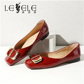 LESELE|莱思丽2021秋季新款时尚优雅牛皮橡胶底时装鞋LA7874