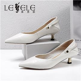 LESELE 莱思丽2021秋季新款优雅时尚羊皮橡胶底时装鞋LA7675